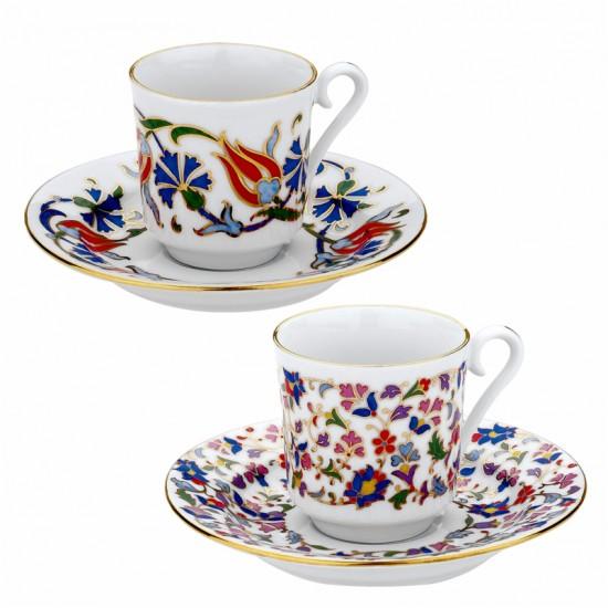 1151 Kahire Desenli Türk Kahvesi Fincanı (6'lı Kutuda)