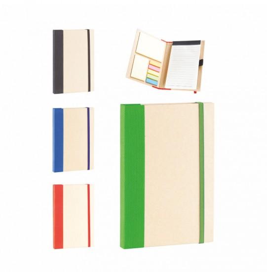 390 Geri Dönüşümlü Notluk 13X17.7X1.6 Cm 25 Yp. Yapışkanlı Kağıt 70 Yp. İç Sayfa-Kalem