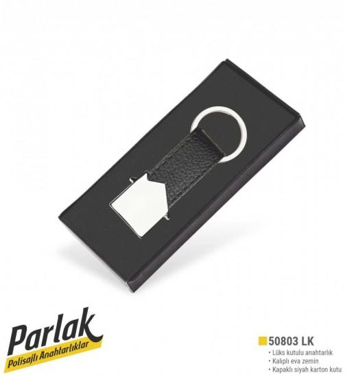 50803-LK Lux Kutu Polisajlı Deri Anahtarlık