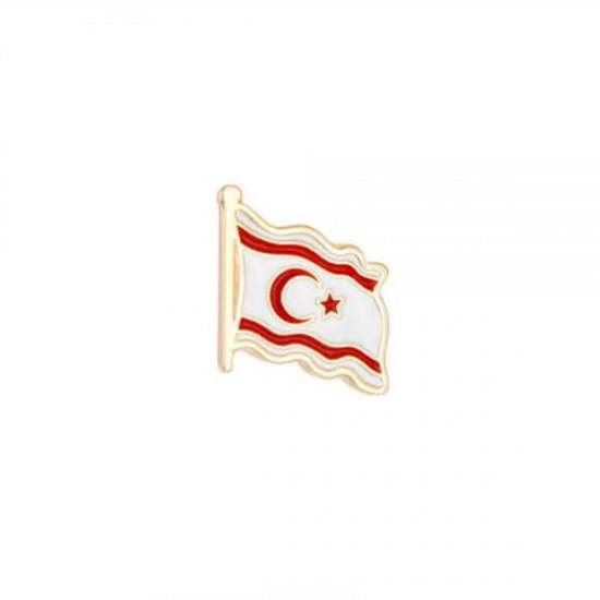 Türk Bayrağı Mineli Yaka Rozeti